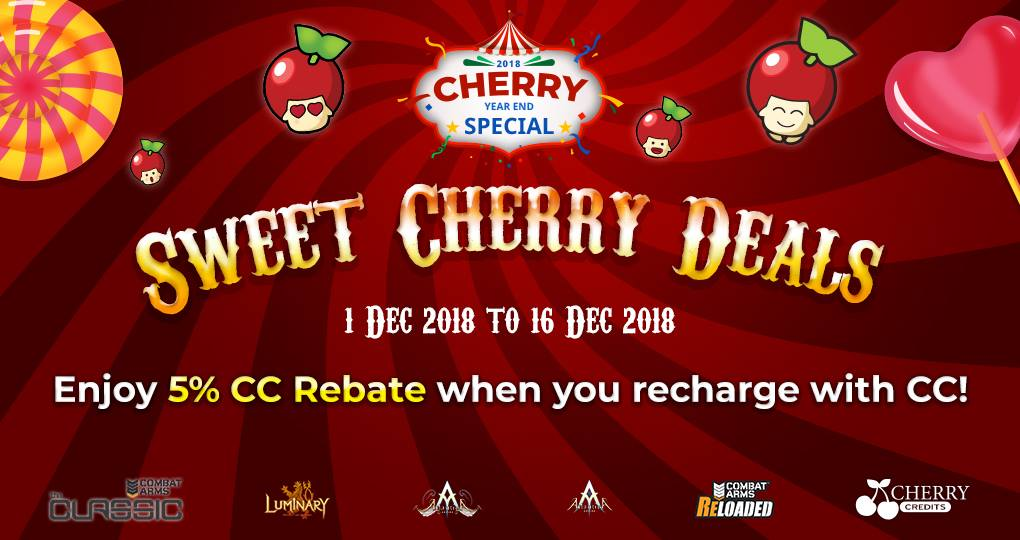 Sweet Cherry Deals December 1 to December 16, 2018