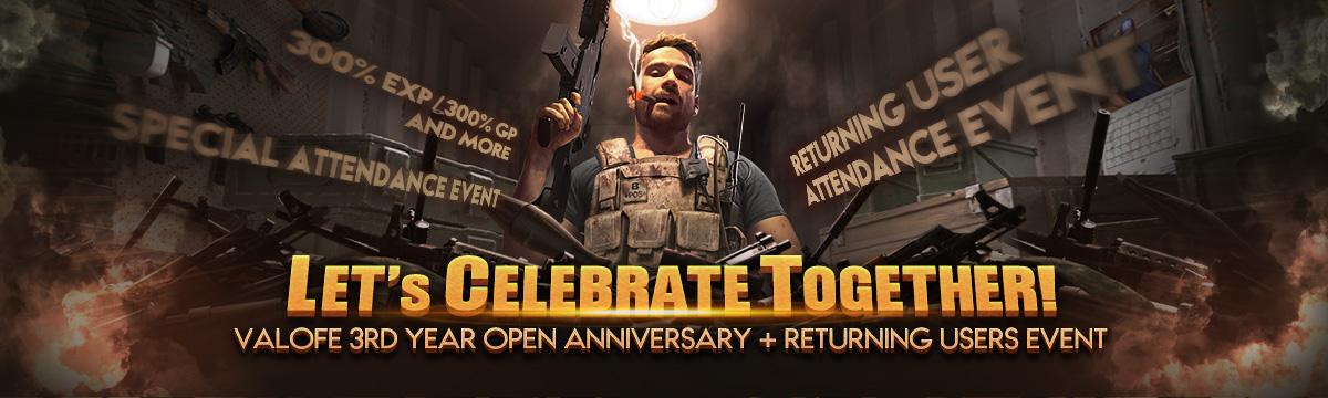 VALOFE 3rd Anniversary & Returning Users Event