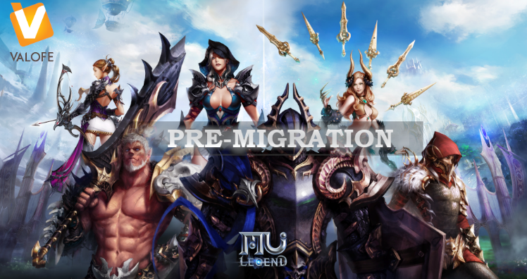 MU Legend has announced that service pre-migration from Webzen to VALOFE has officially started